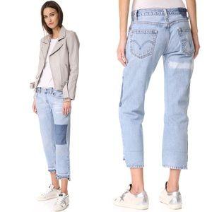 NILI LOTAN Patchwork Jeans Denim $325